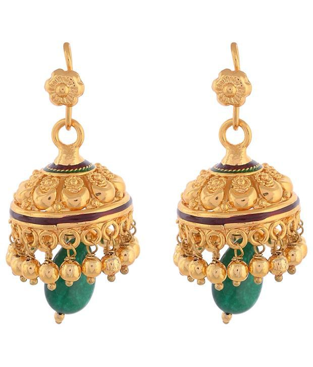 Ganapathy Gems Antique Alloy Hoop Earrings