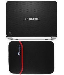 Anwesha's Reversible Laptop Sleeve with Laptop Skin - 15.6 inch Samsung On Black