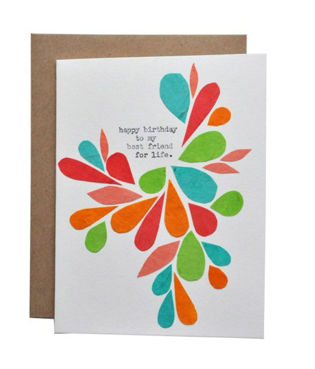 Btrendy Happt Birthday To My Best Friend For Life Text Handmade Greeting Card Buy Online At Best Price In India Snapdeal