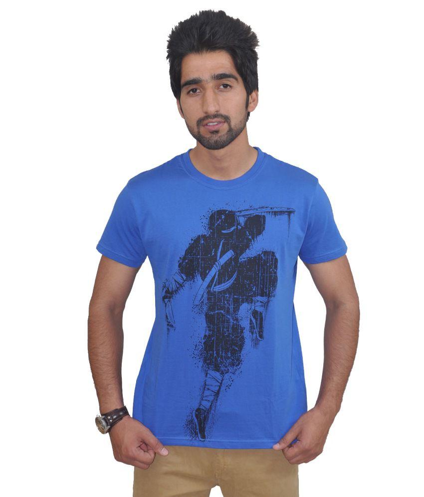 Draco Blue Cotton T Shirt