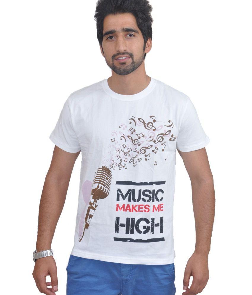 Draco White Cotton T Shirt