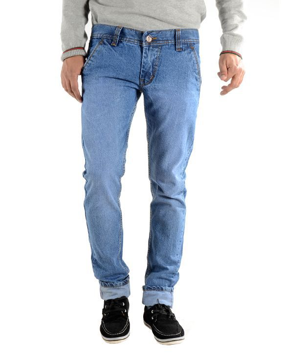K' Live Blue Cotton Basics Light Jeans