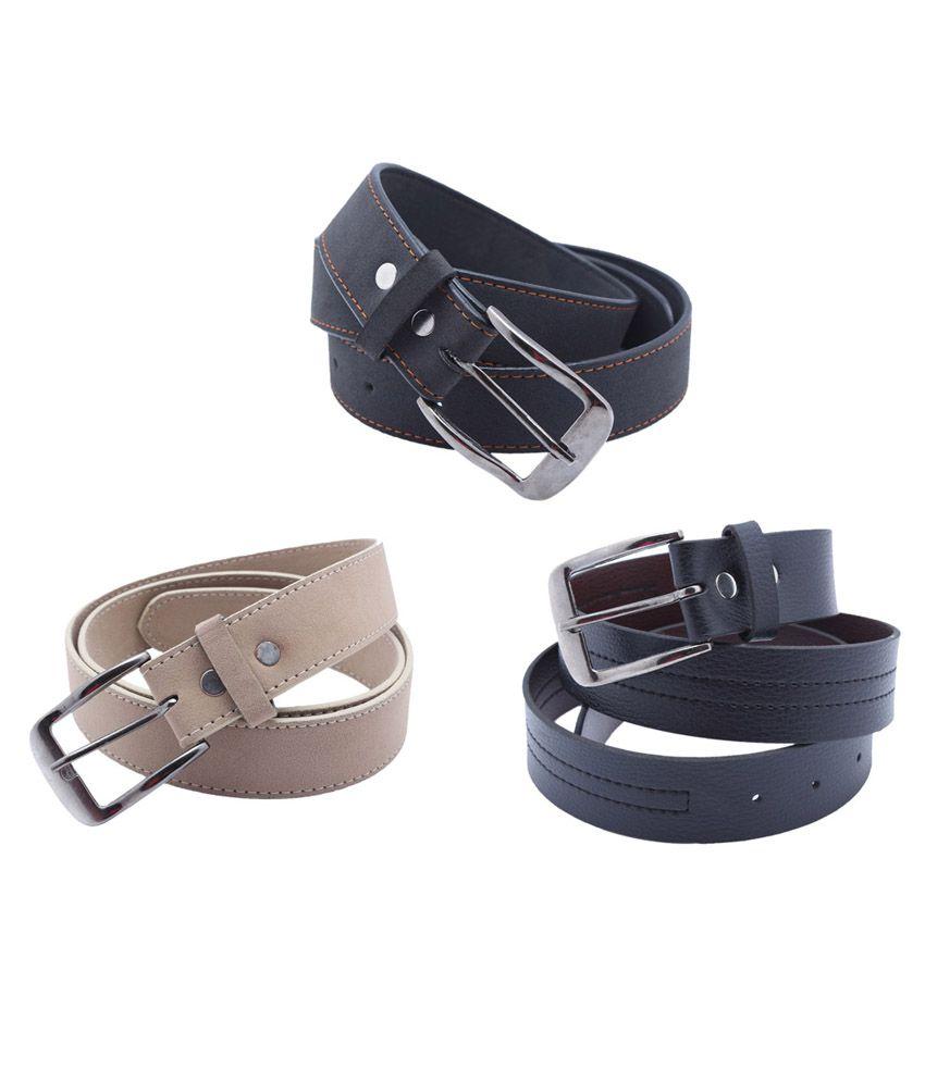 PT Black Formal Belt Set of 3