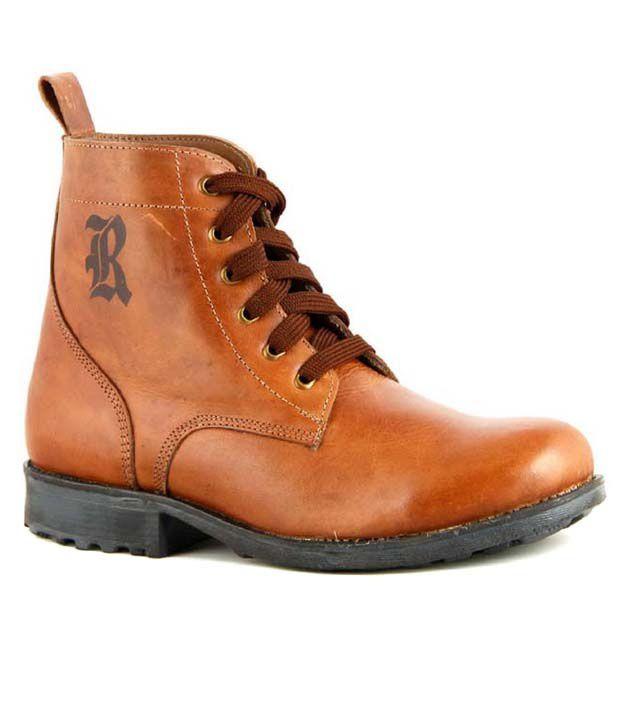 Richfield Rado Tan Leather Lace Boot
