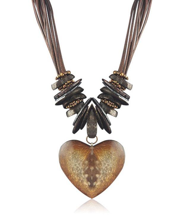 Swanvi Brown Tribal Necklace