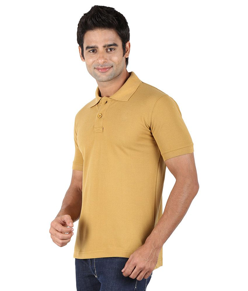 Trendster cotton light brown polo t shirt buy trendster for Light brown polo shirt