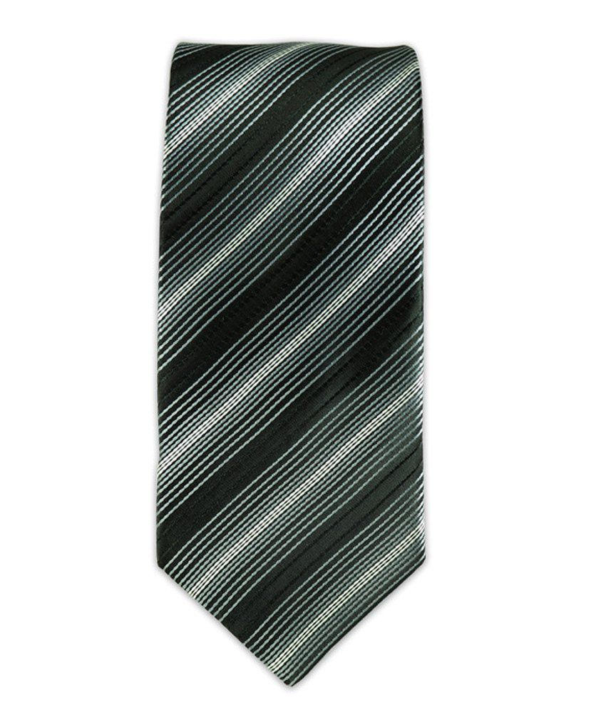 The Tie Hub Grey Micro Fiber Casual Narrow Tie