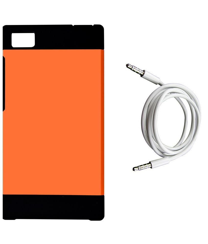 ASE Slim Armor Back Cover for Xiaomi Mi3 with Aux Cable - Orange