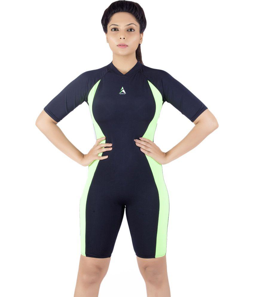 Attiva Black One Piece Swimming Costume