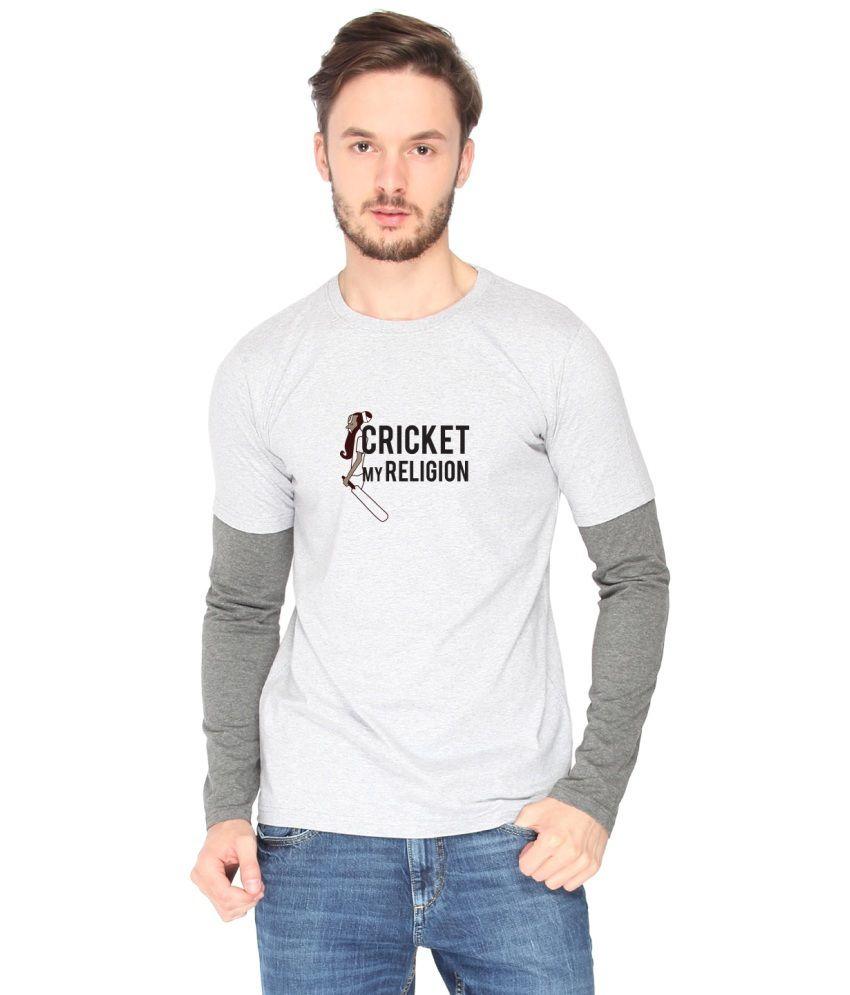 Campus Sutra White Cotton T-shirt (Cricket My Religion)
