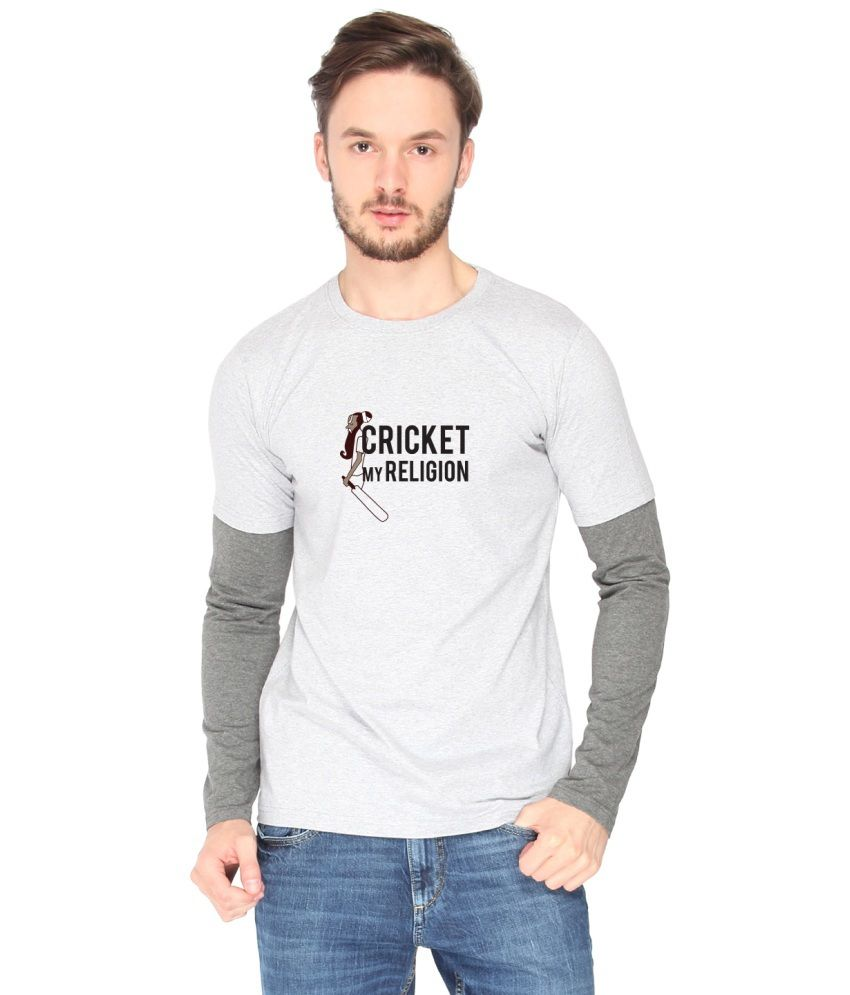 Campus Sutra White Cotton T-shirt (Cricket My Religion)