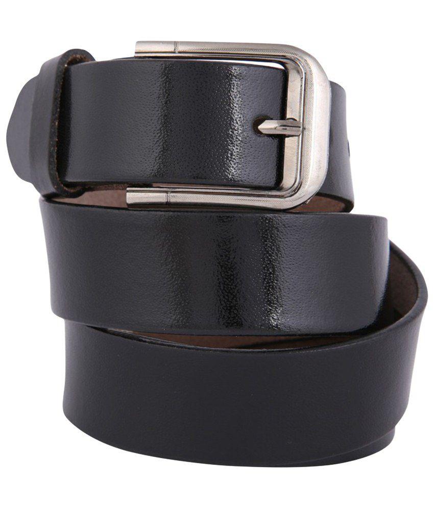 Dharavi Market Black Leather Belt