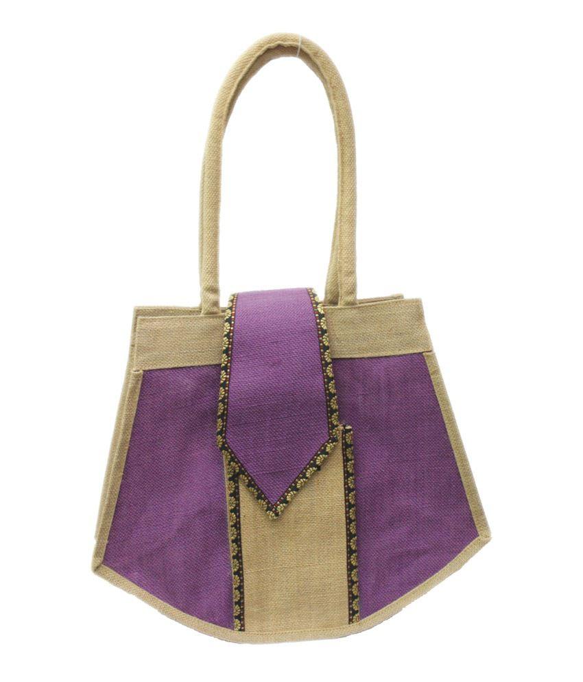 Vakula Exports Purple Jute Made Shoulder Bag