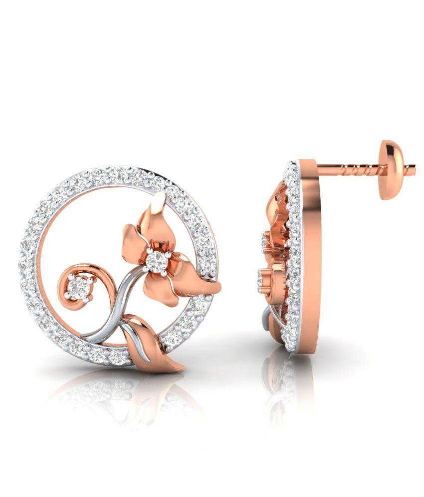 Demirajewels 92.5 Sterling Silver Stud Earrings 100%Certified