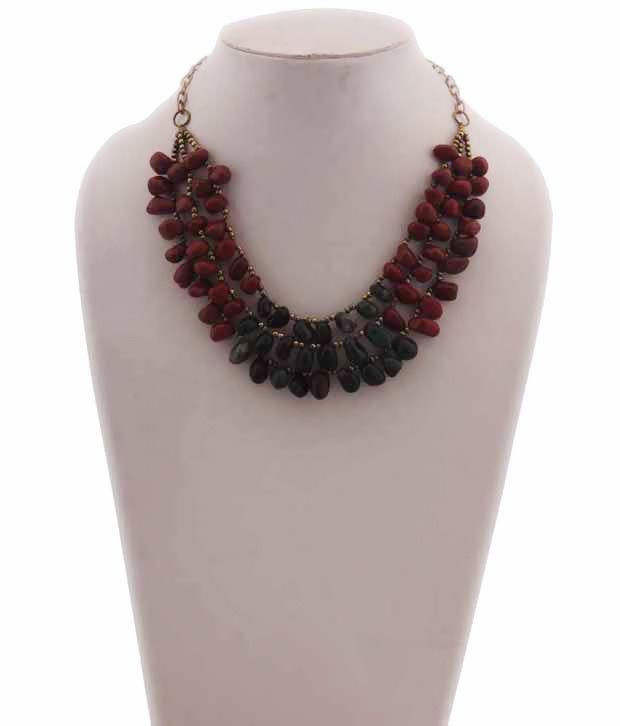 Indian Charm Multicolor Glass Beads Necklace Set