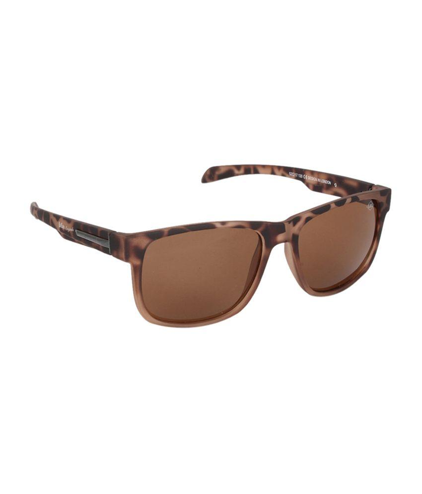 Lee Cooper Brown Square Unisex Sunglasses