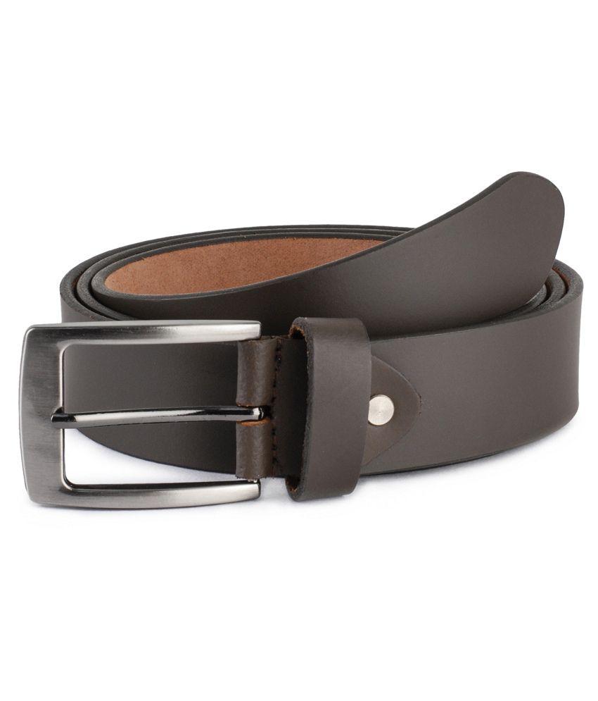 Musk Duck Brown Leather Formal Belt for Men