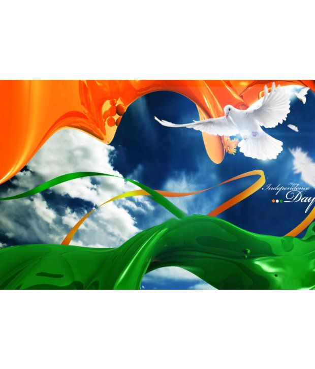 1bc336d1c36 PrintingGali Tri-color Flag and Peace (Independence Day Special) Poster   Buy PrintingGali Tri-color Flag and Peace (Independence Day Special) Poster  at Best ...