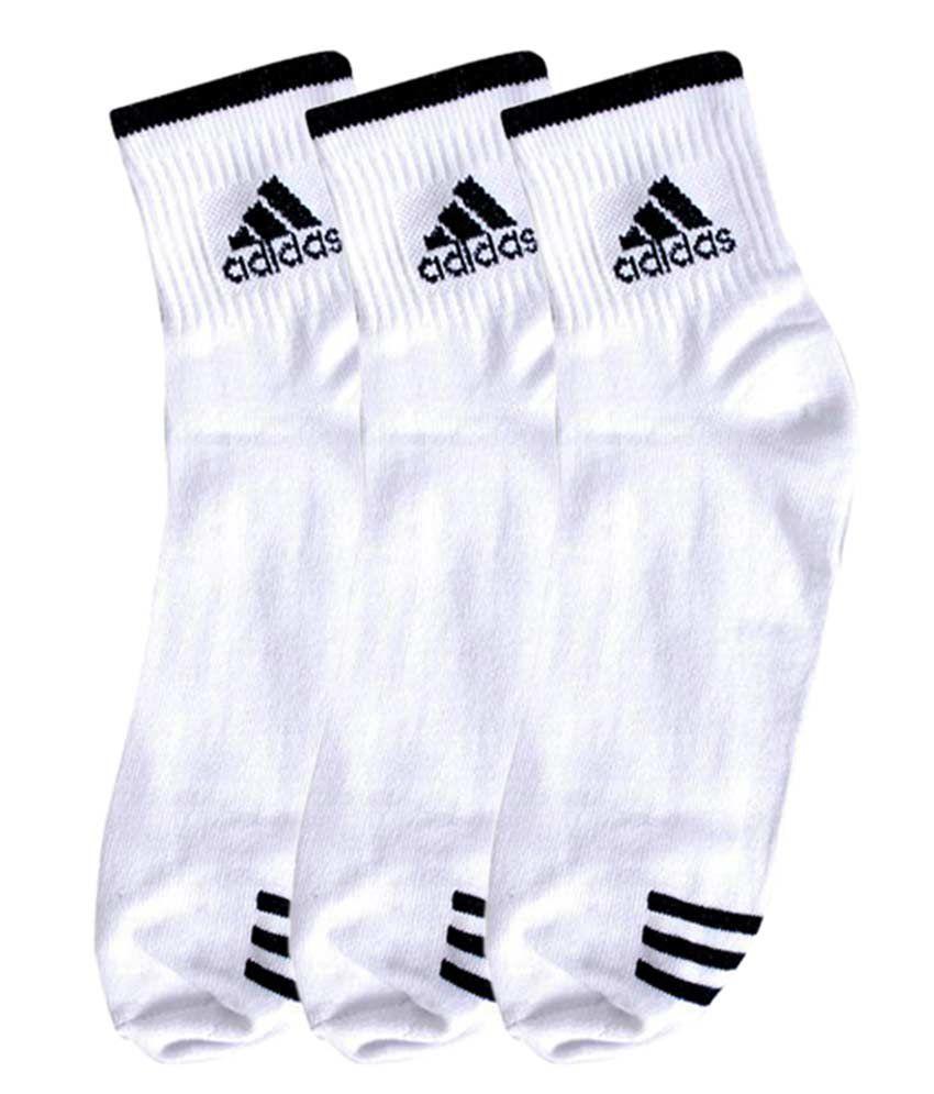 Adidas Comfortable White Socks - 3 Pair Pack