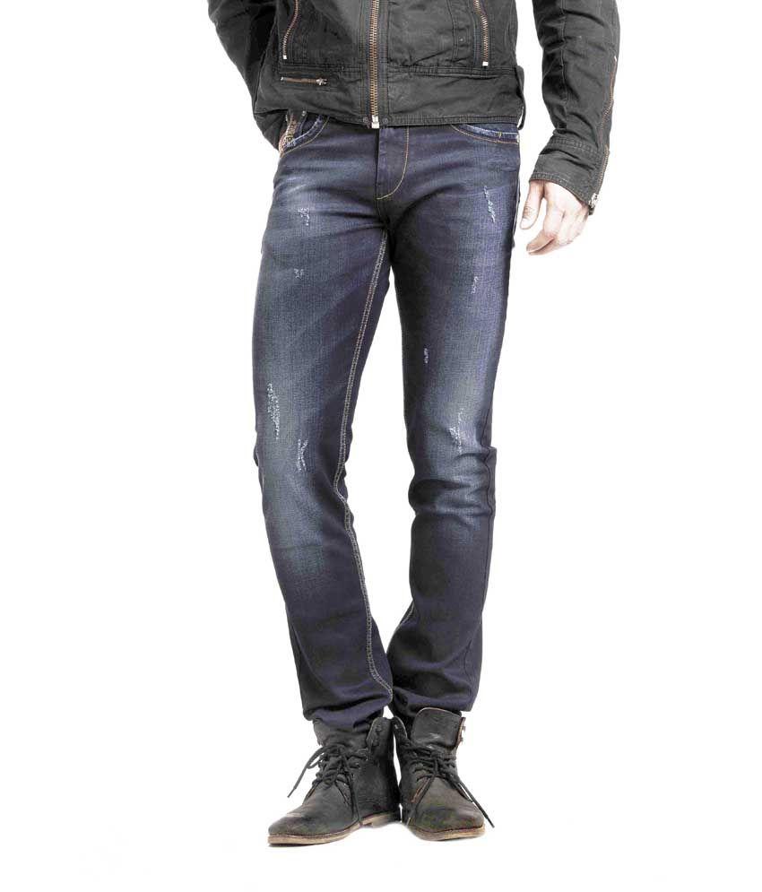 Espada Black Cotton Slim Fit Basics Jeans For Men