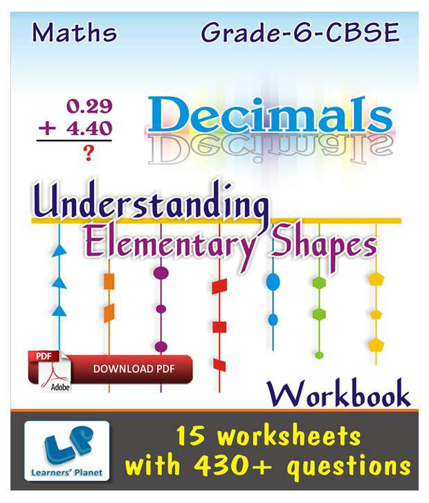 grade 6 cbse maths decimals understan elementary shape wb e books downloadable pdf buy grade. Black Bedroom Furniture Sets. Home Design Ideas