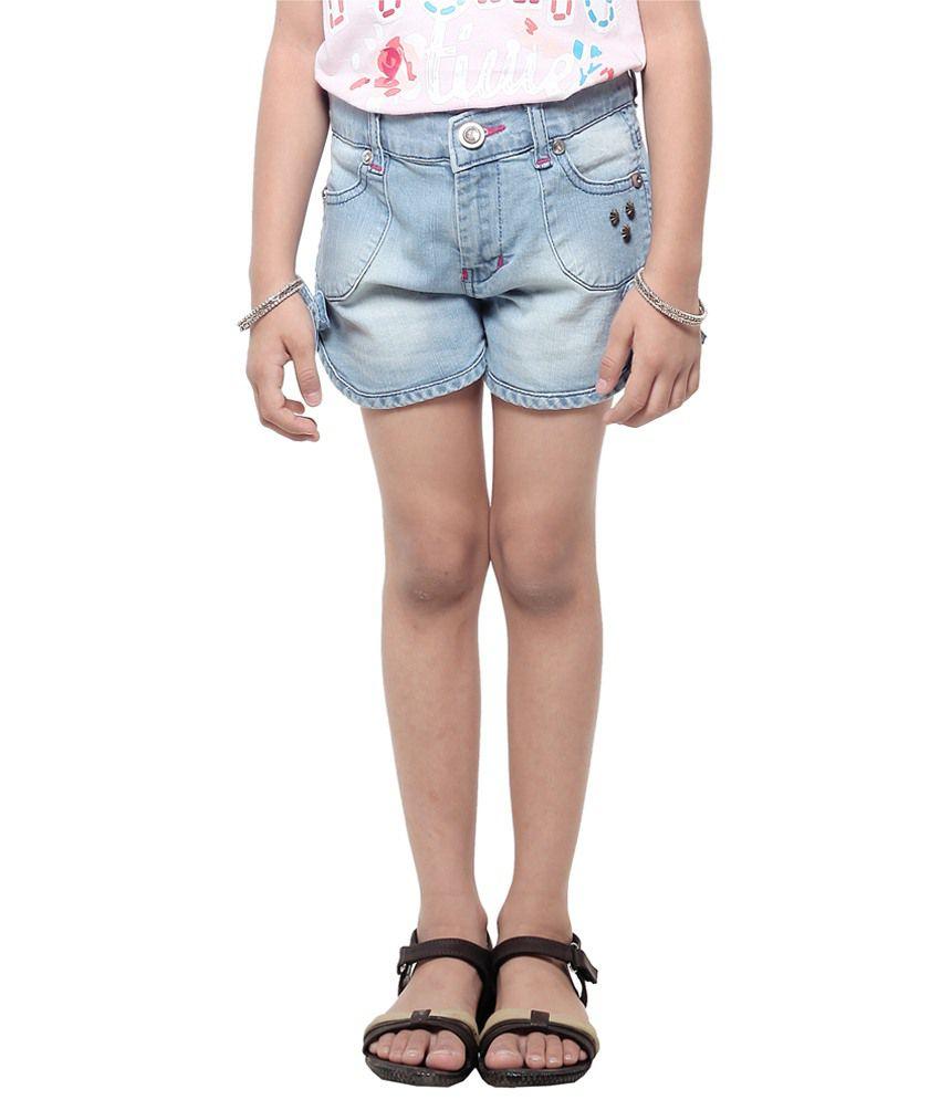 Stop Blue Denim Shorts For Girls