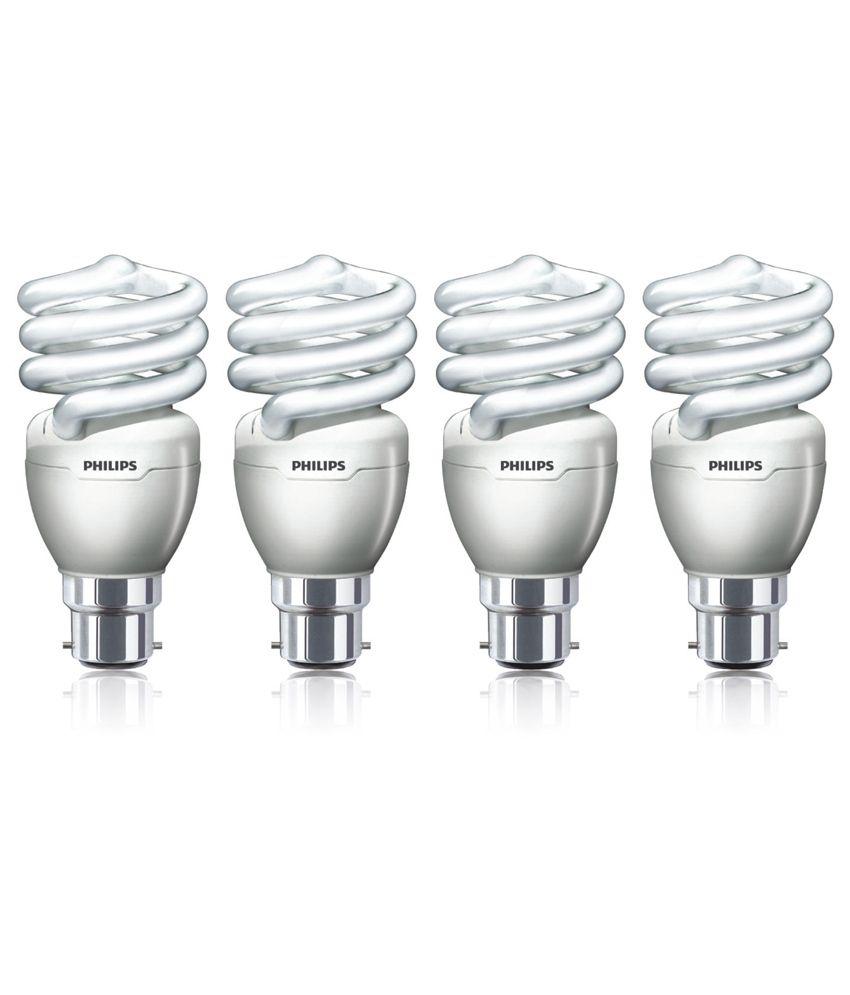 Philips CFL Pack Of 4 Tornado(Spiral) Bulbs - 15 W Image