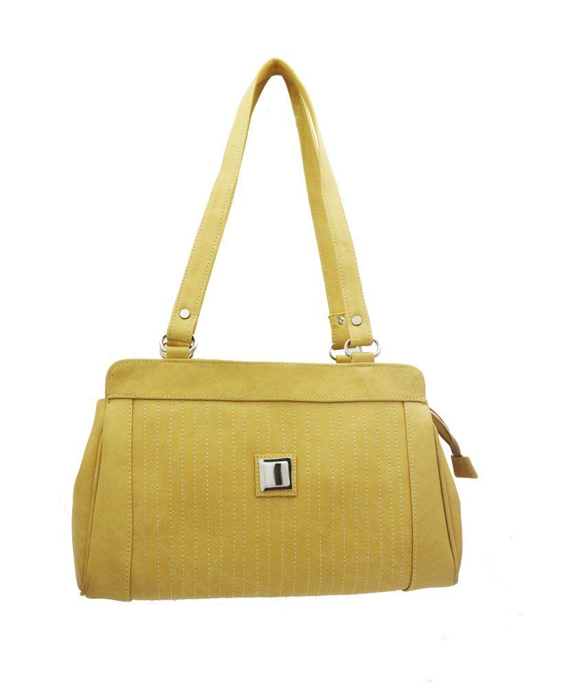 LADY QUEEN Yellow Shoulder Bag