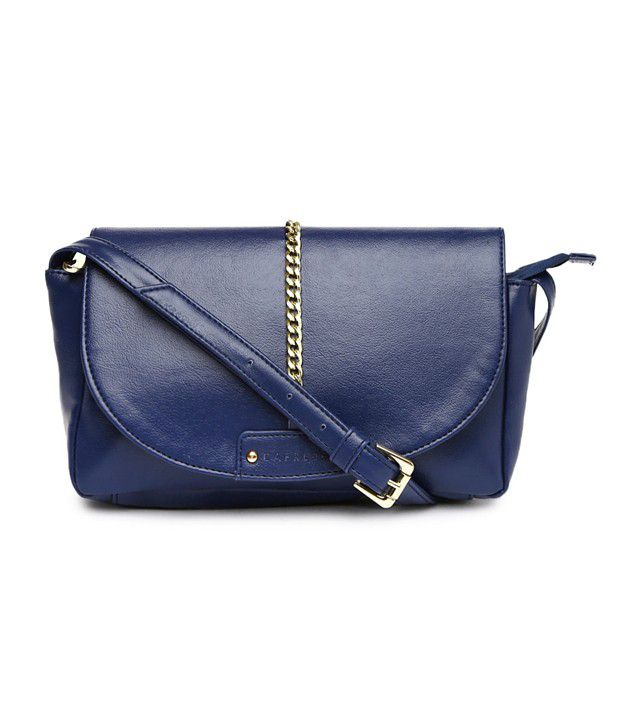 Caprese Navy Blue Jewel Sling Bag - Buy Caprese Navy Blue Jewel ...