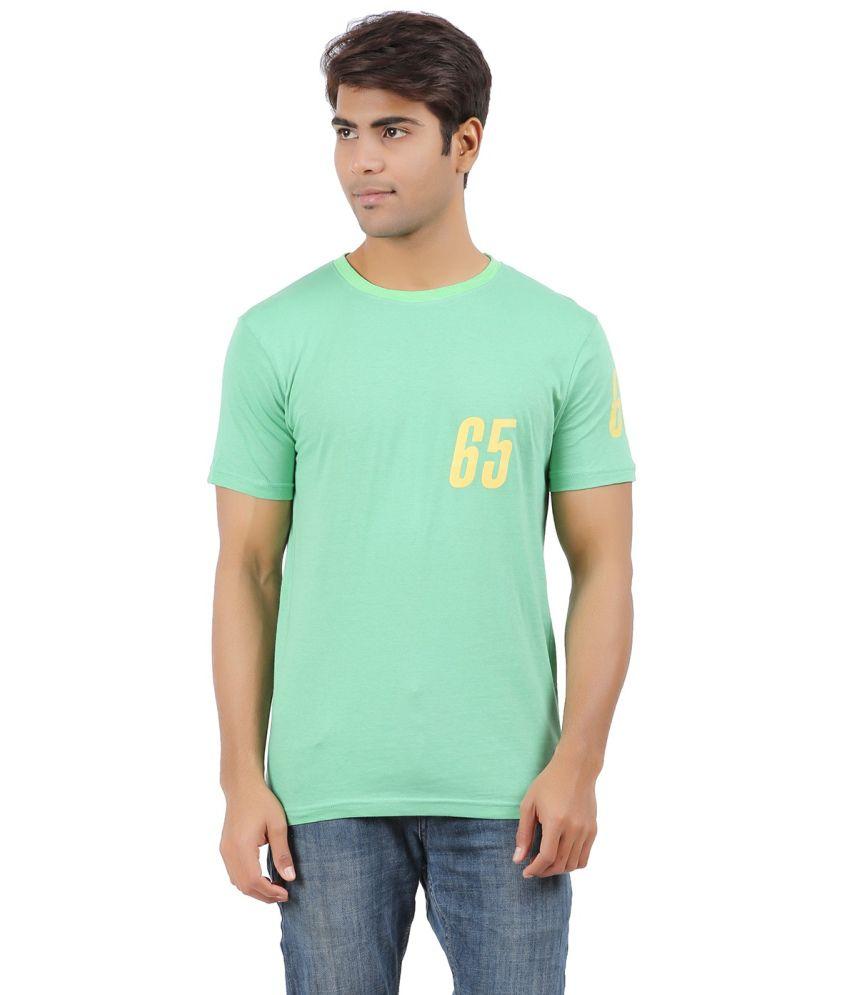 DK Clues Green Cotton Printed T-shirt