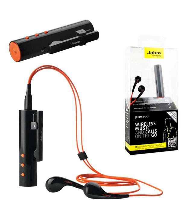Jabra Play Bluetooth Wireless Headset With Mic - Black