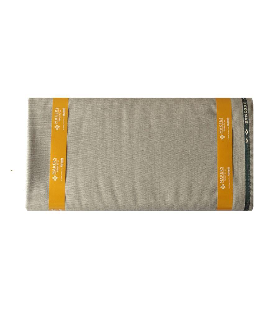 Raymond Multicolour Cotton Blend Unstitched Fabric For Safari Suit - 2.80 meter
