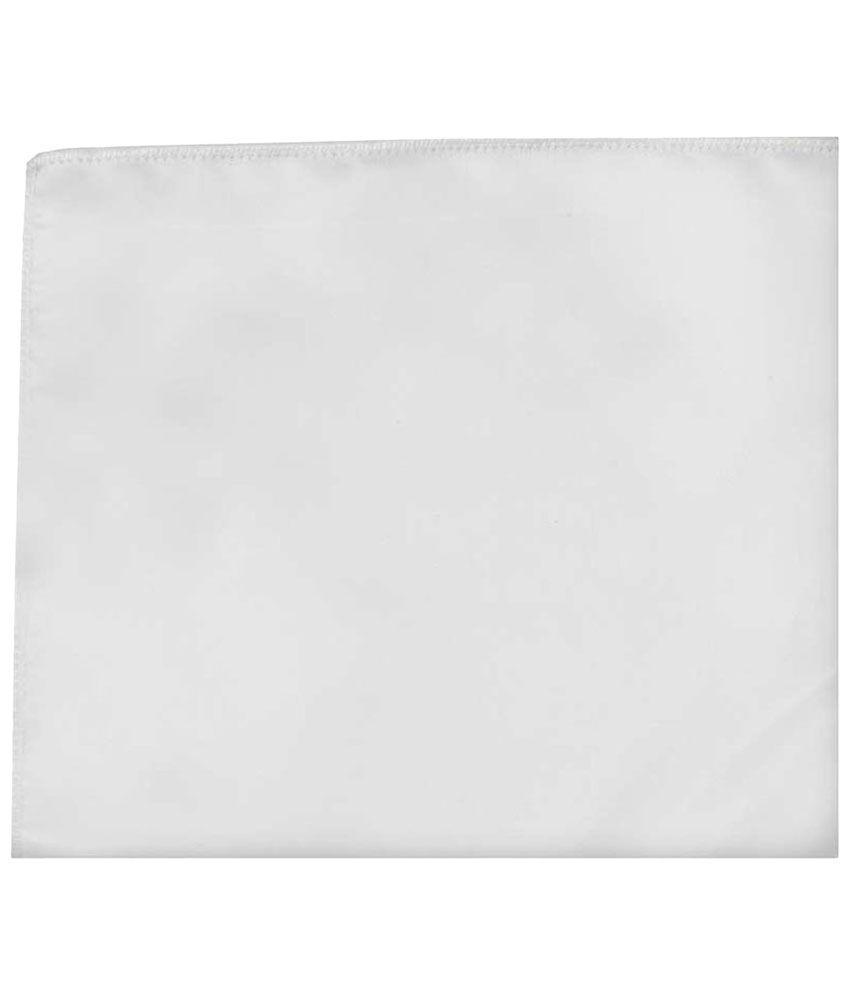 Tiekart Polyester White Pocket Square