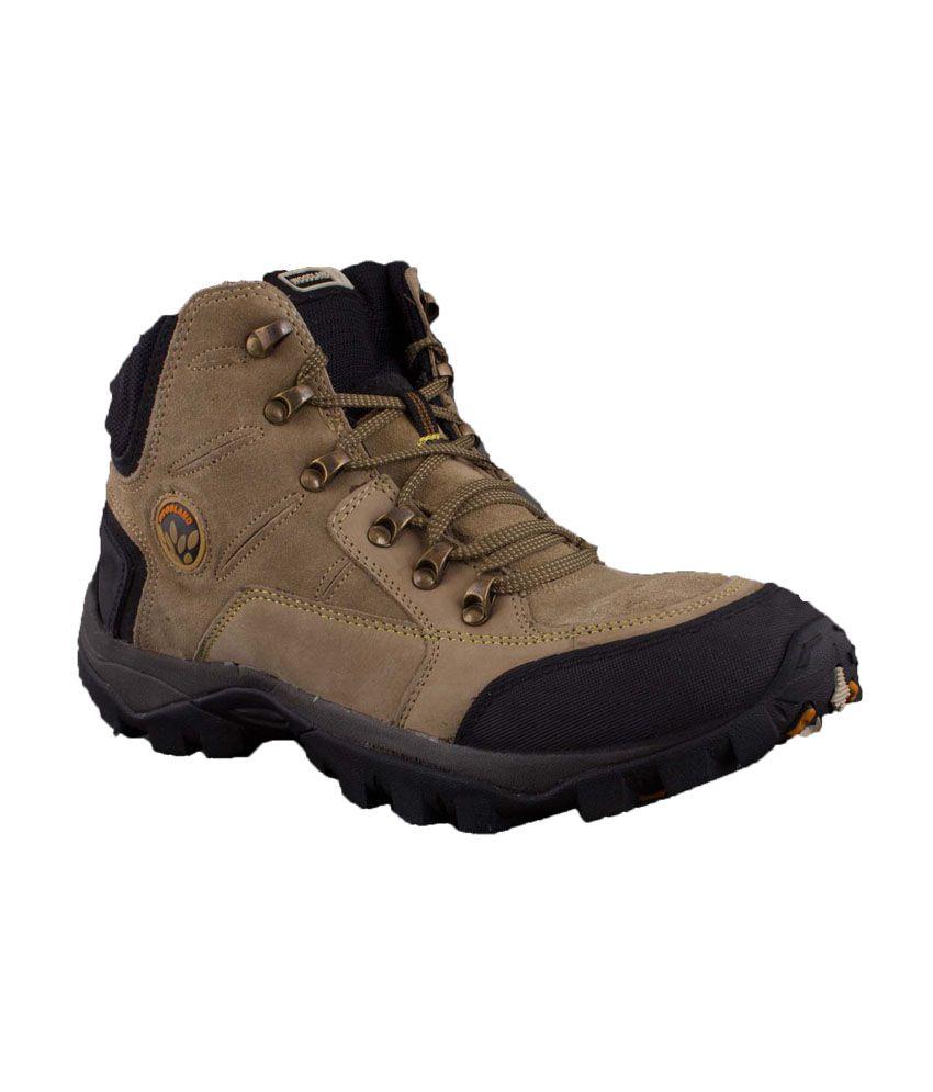 Woodland Khaki Lace Men's Casual Shoes