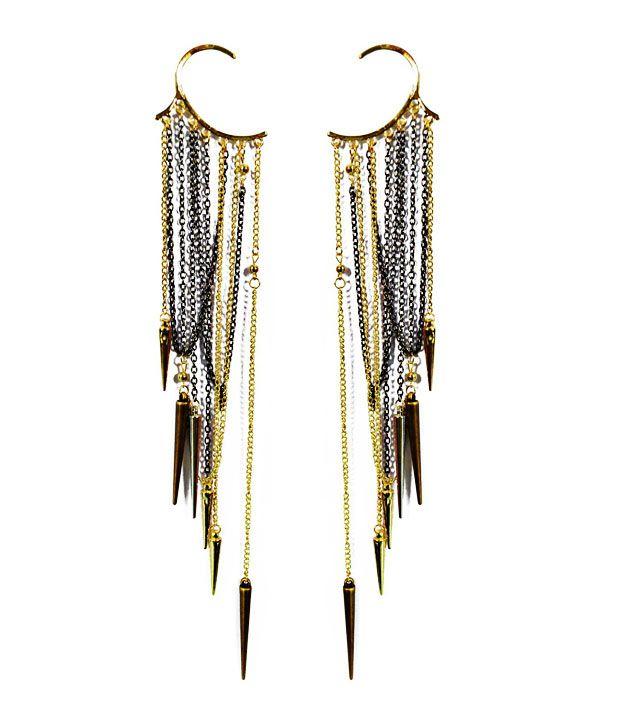 Cinderella Fashion Jewelry  Spiked Ear Cuff Earrings