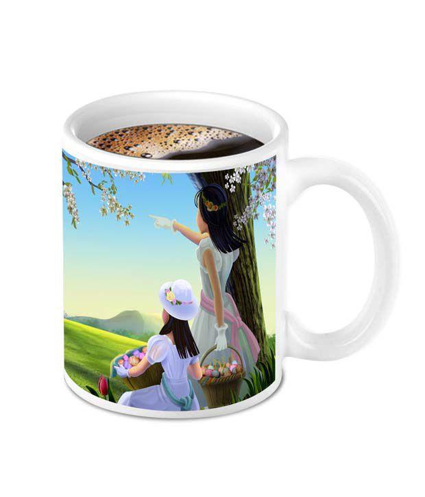 Homesogood Beautiful Girls Ceramic Coffee Mug