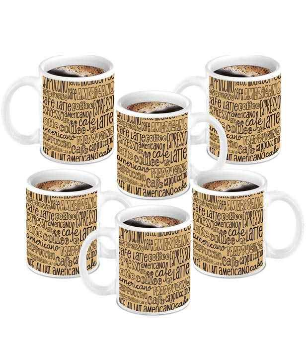 Homesogood Great All Types Of Coffee Mug Deals - Pack Of 6 ...
