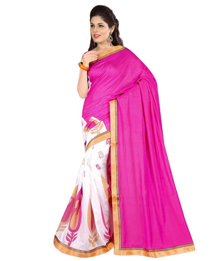 6b9aac501 Ravi Designer Sarees Pink Art Silk Saree Price in India