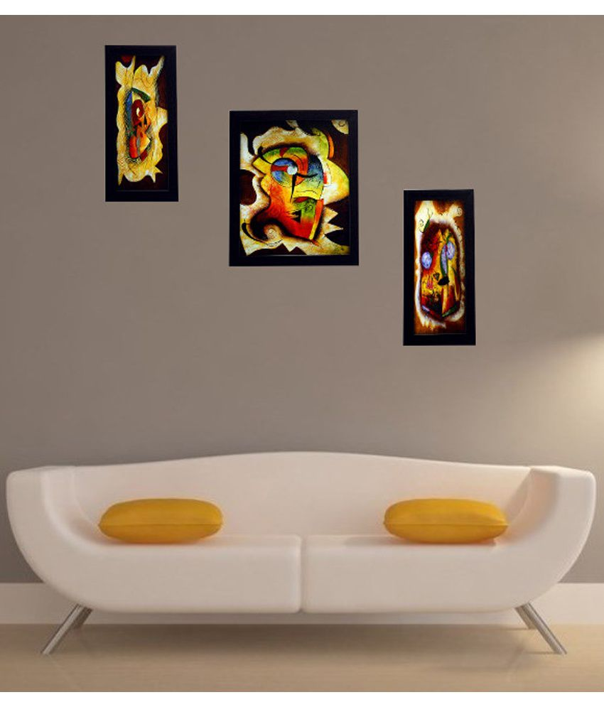 Indianara 3 Piece Set of Framed Wall Art - Vibrant Abstract Art