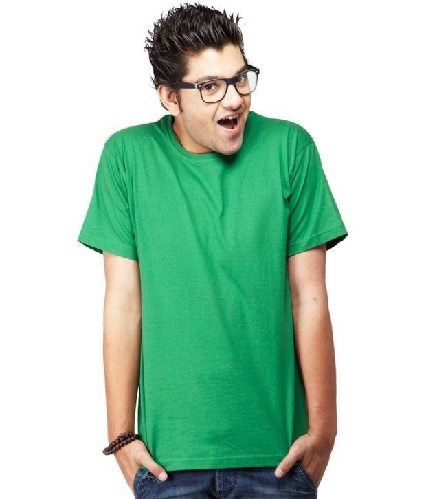 Sri Sowbarnika Tex Green Cotton Blend T Shirt For Men