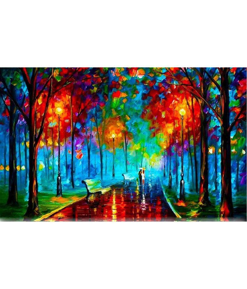 Wonder Images Pvt. Ltd. Beautiful Woods Painting Canvas Art