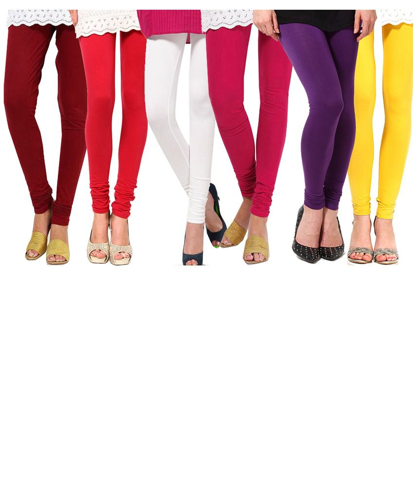 E'hiose Cotton Leggings- Pack Of 6