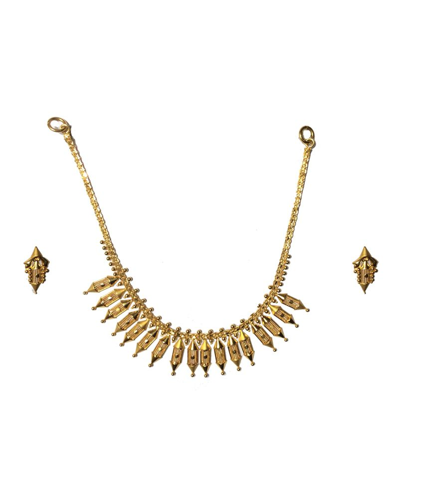 Kataria Jewellers 22kt Hallmarked Gold Traditional Necklace Set