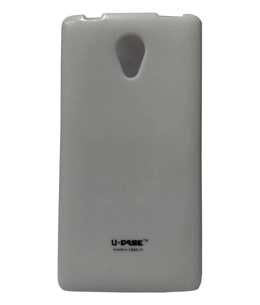 3448c34faf3 Kelpuj Silicon Back Cover For Xolo A500 Club-White - Plain Back Covers  Online at Low Prices