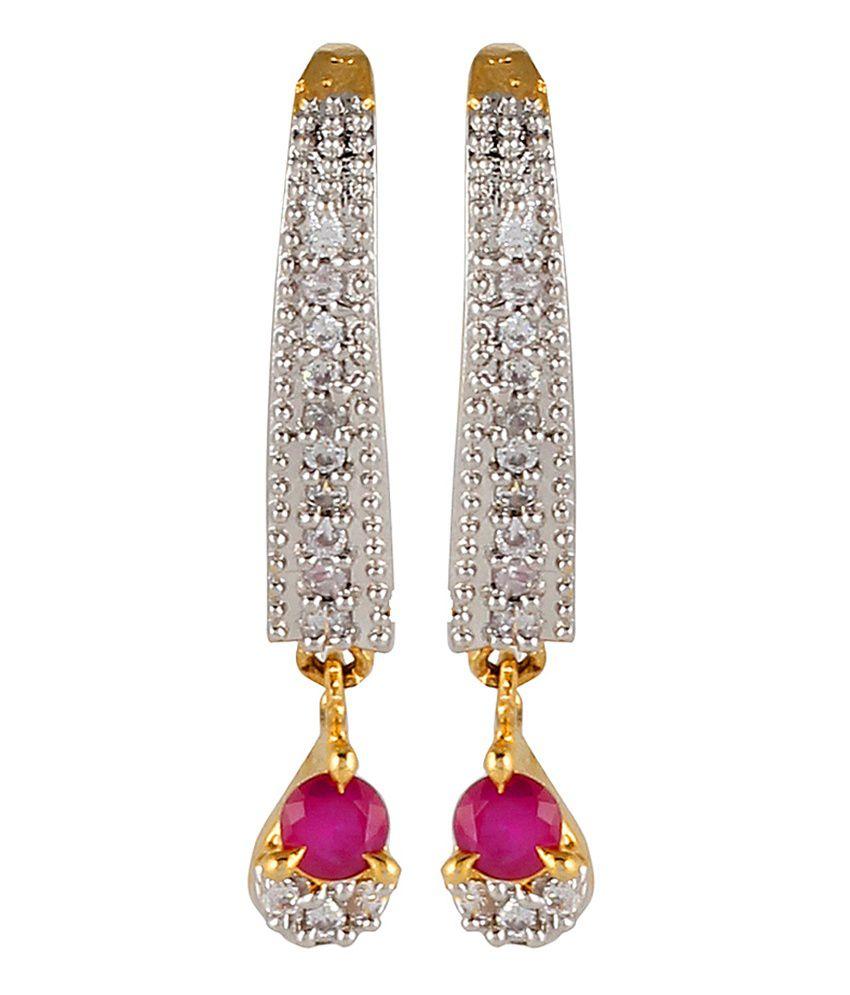 Bizarre Gold Alloy Drop Earrings