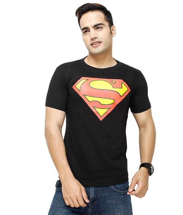 Fashion Enterprises Black Superman  T-Shirt
