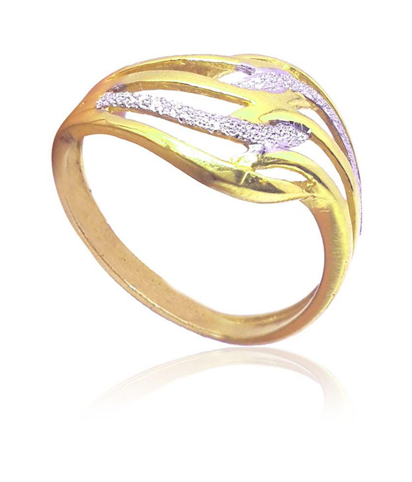 Standard Jeweller 916 Hallmark Gold Ladies Ring, Wt: 3.370g: Buy ...