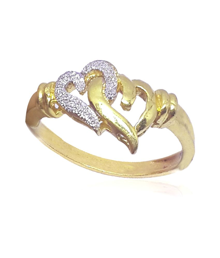 Standard Jeweller 916 Hallmark Gold Ladies Ring, Wt: 3.630g: Buy ...