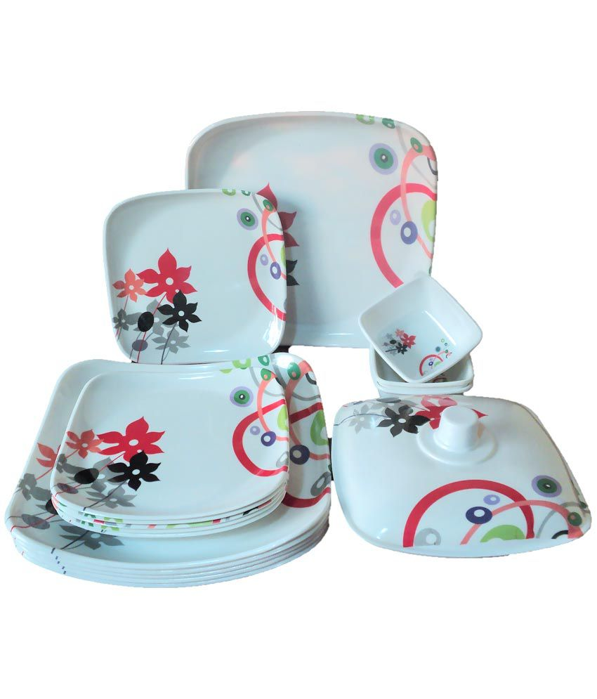 Wedding Gift Dinner Set : ... Square Floral Dinner Set Wedding Anniversary Birthday Bridal Gift