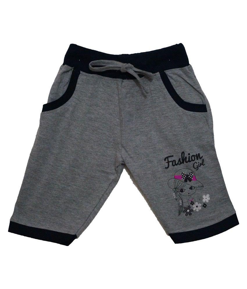 Color Kids Gray Cotton Shorts